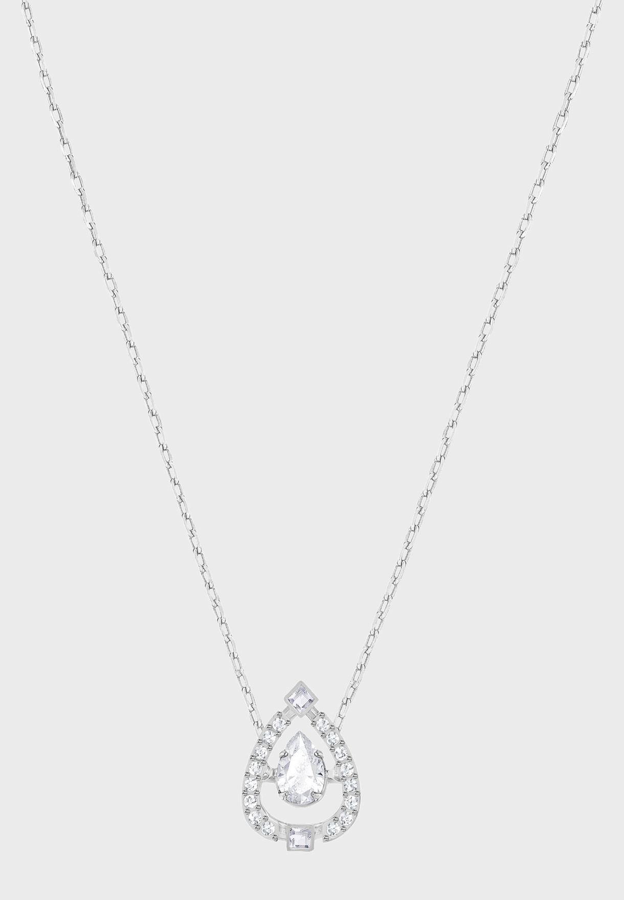 Sparkling Dc Pear Necklace With Pendant