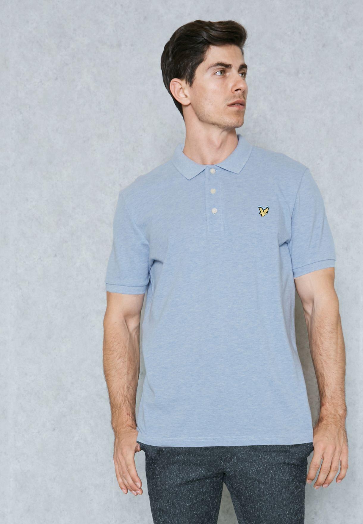 e1e0e195a Shop Lyle Scott blue Polo Shirt SP400VM for Men in Globally ...