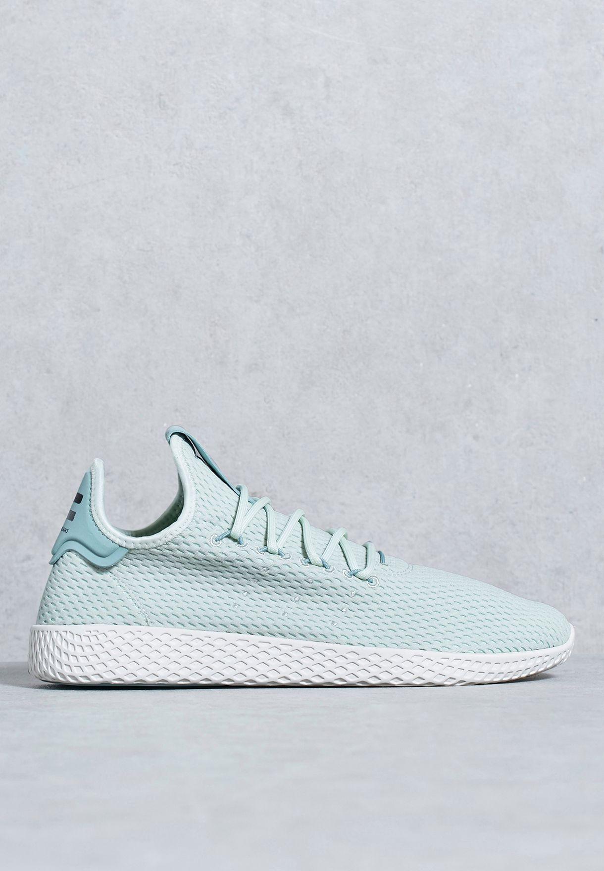 7ce8722b0 Shop adidas Originals green Pharrell Tennis Hu CP9765 for Men in ...