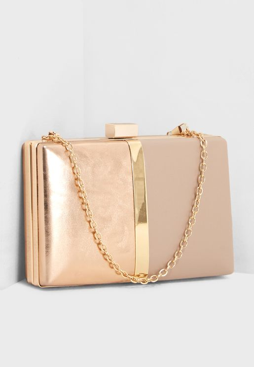 Sasha Sleek Box Clutch