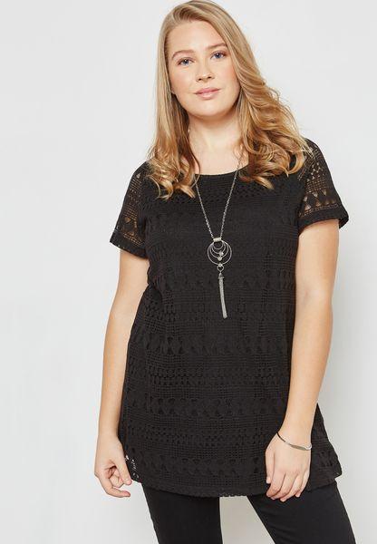 Geometric Lace T-Shirt