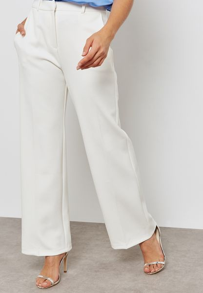 Wide Leg Flared Trousers
