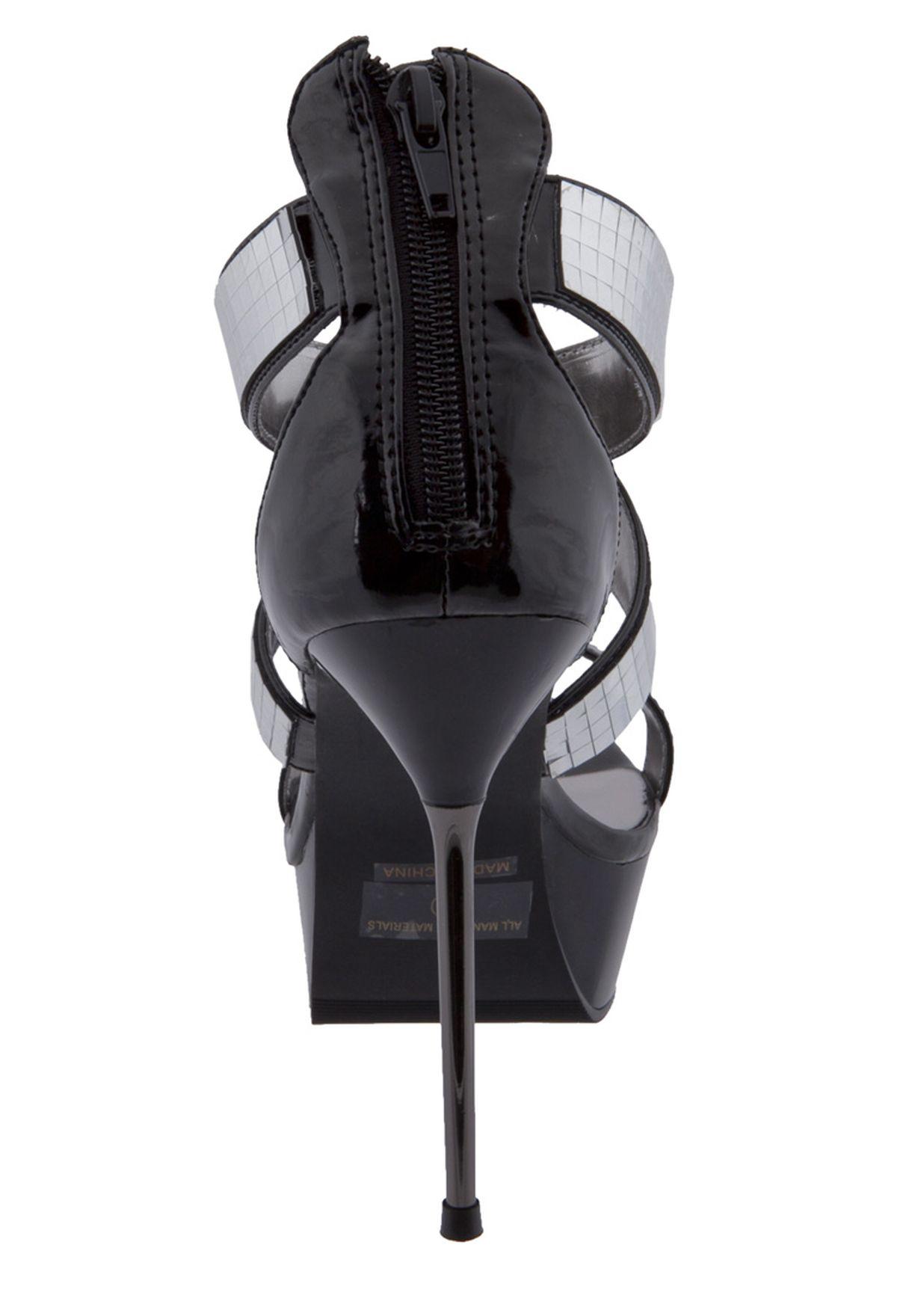 54be7e719 تسوق Embelished Sandals ماركة الي شوز لون أسود في الكويت - EL769SH57YIK