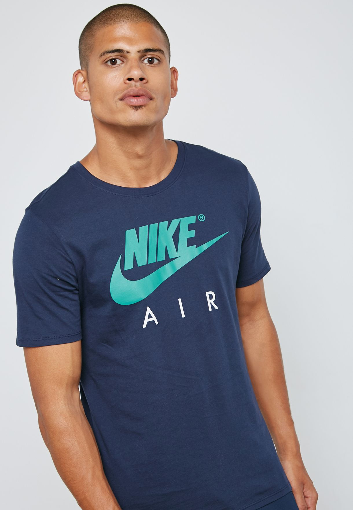 e4bc27a9 Shop Nike navy NSW Air T-Shirt AA2303-451 for Men in Kuwait ...