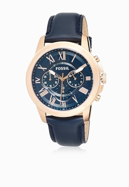 Grant Navy Leather Watch