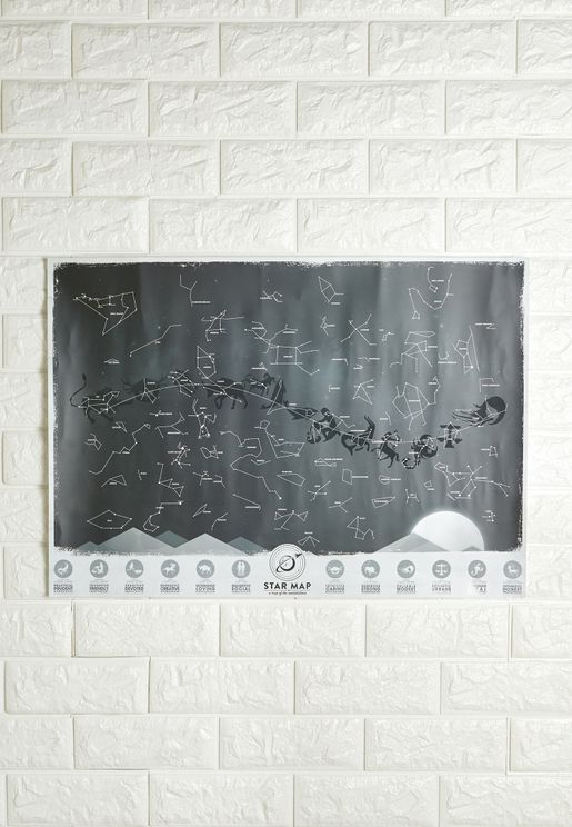 Glow In The Dark Constellations Map