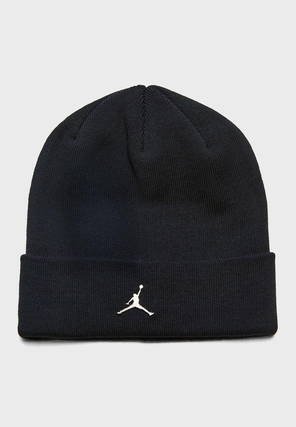 a2e2a5ff Shop Nike black Jordan Cuffed Beanie AA1297-010 for Men in Saudi ...