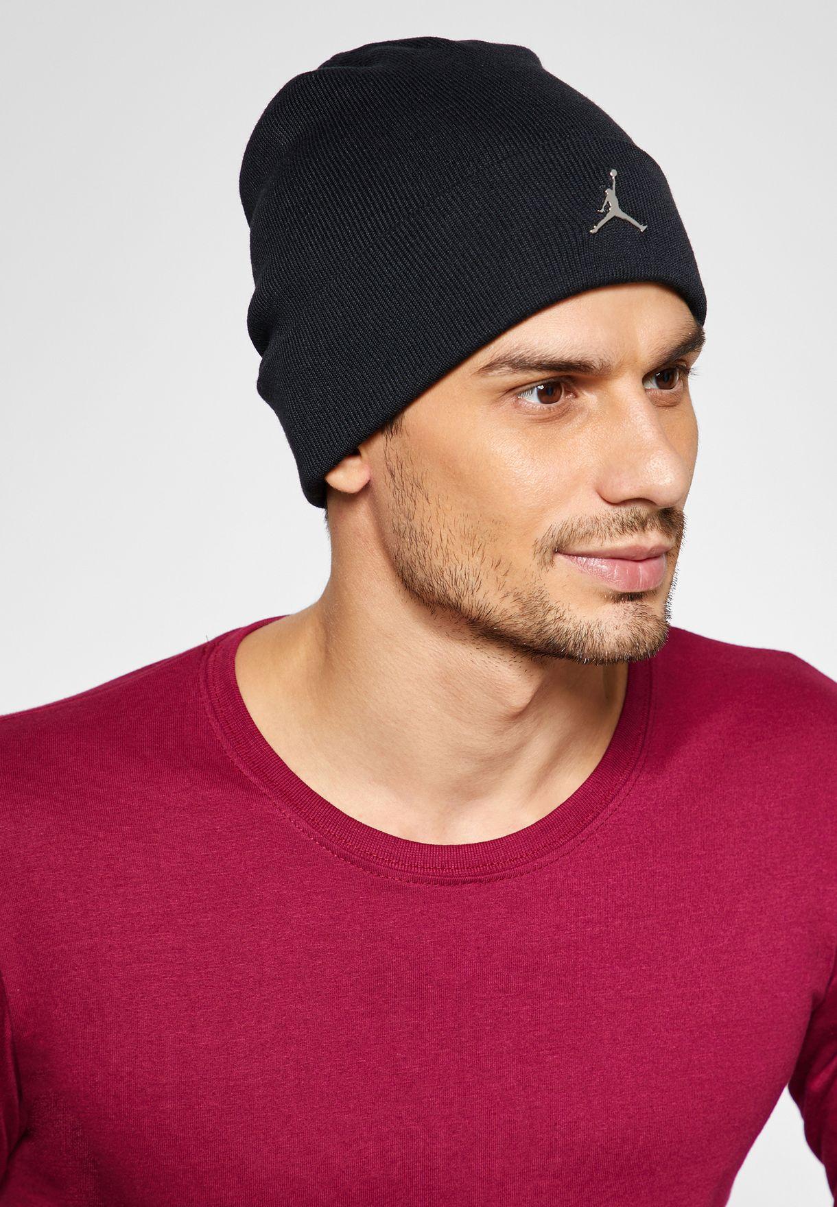 40e73a75f1 Shop Nike black Jordan Cuffed Beanie AA1297-010 for Men in UAE ...