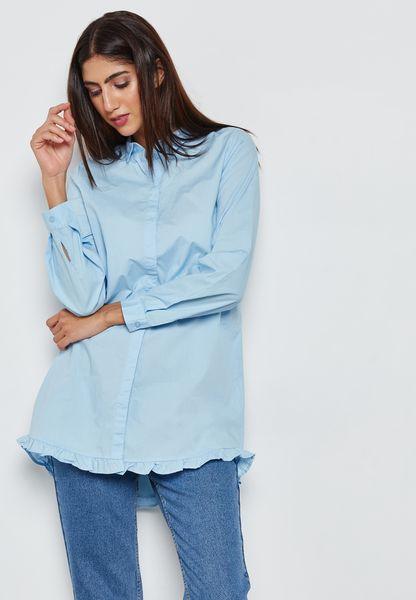 Frill Detail Longline Shirt
