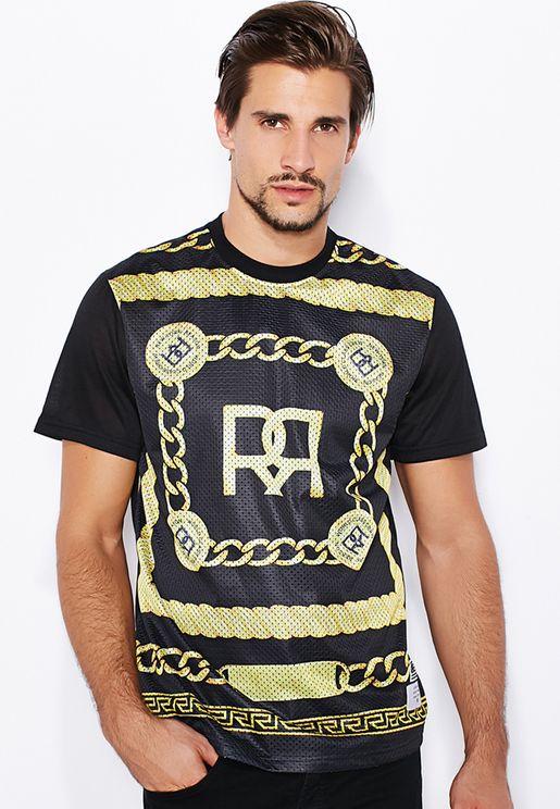 Figaro Chains Mesh T-Shirt