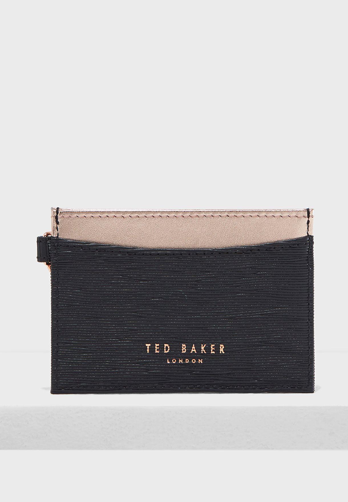 d2de50a99d7c14 Shop Ted baker black Meira Bow Chain Cardholder 143210 for ...