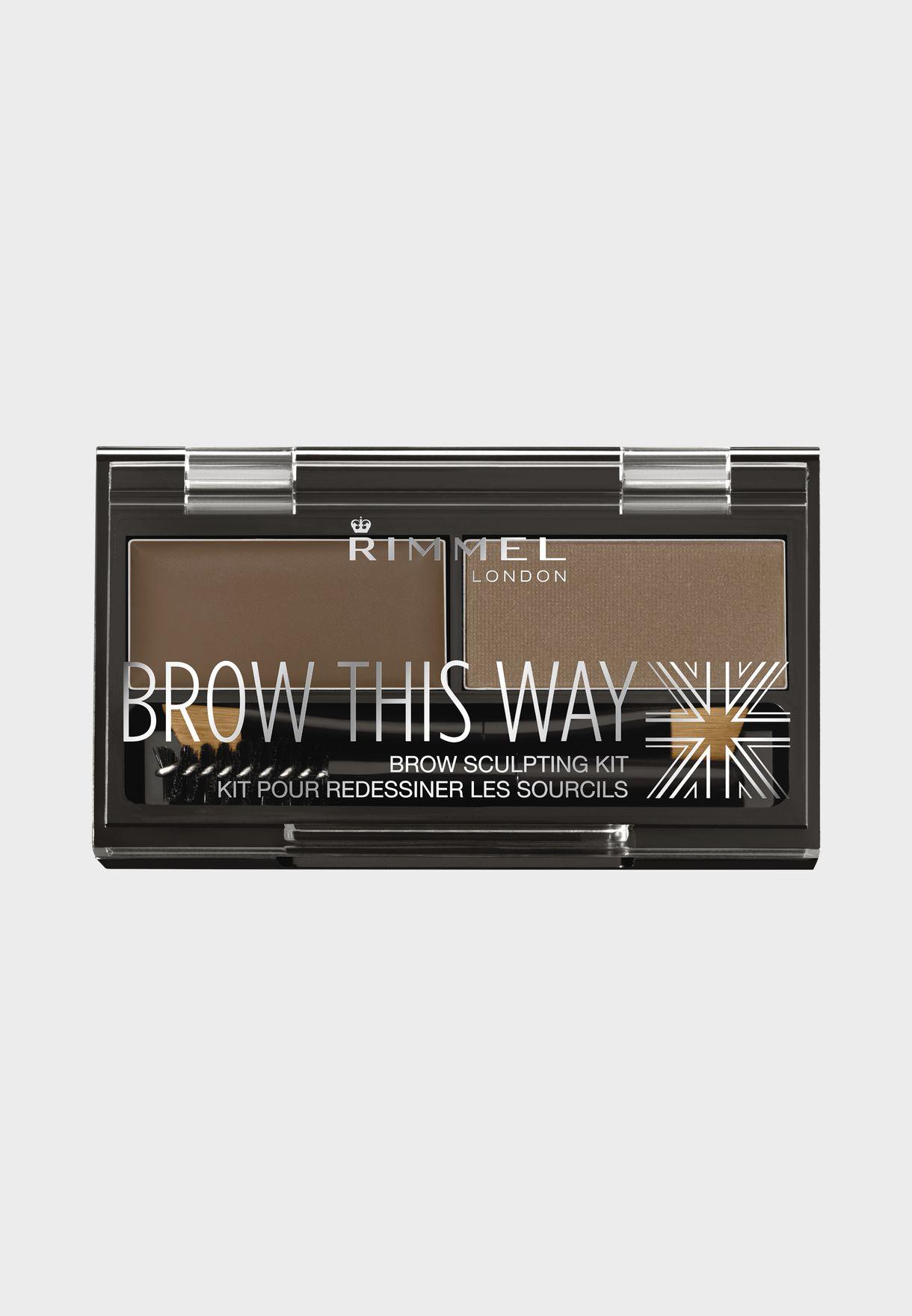 Brow This Way Eyebrow Sculpting Kit- 002 Medium Brown