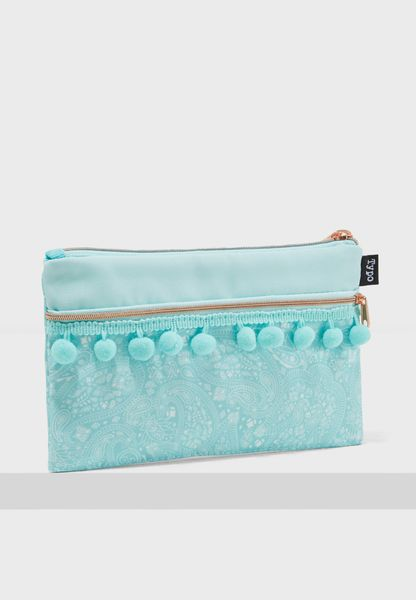 Blue Lace Archer Pencil Case