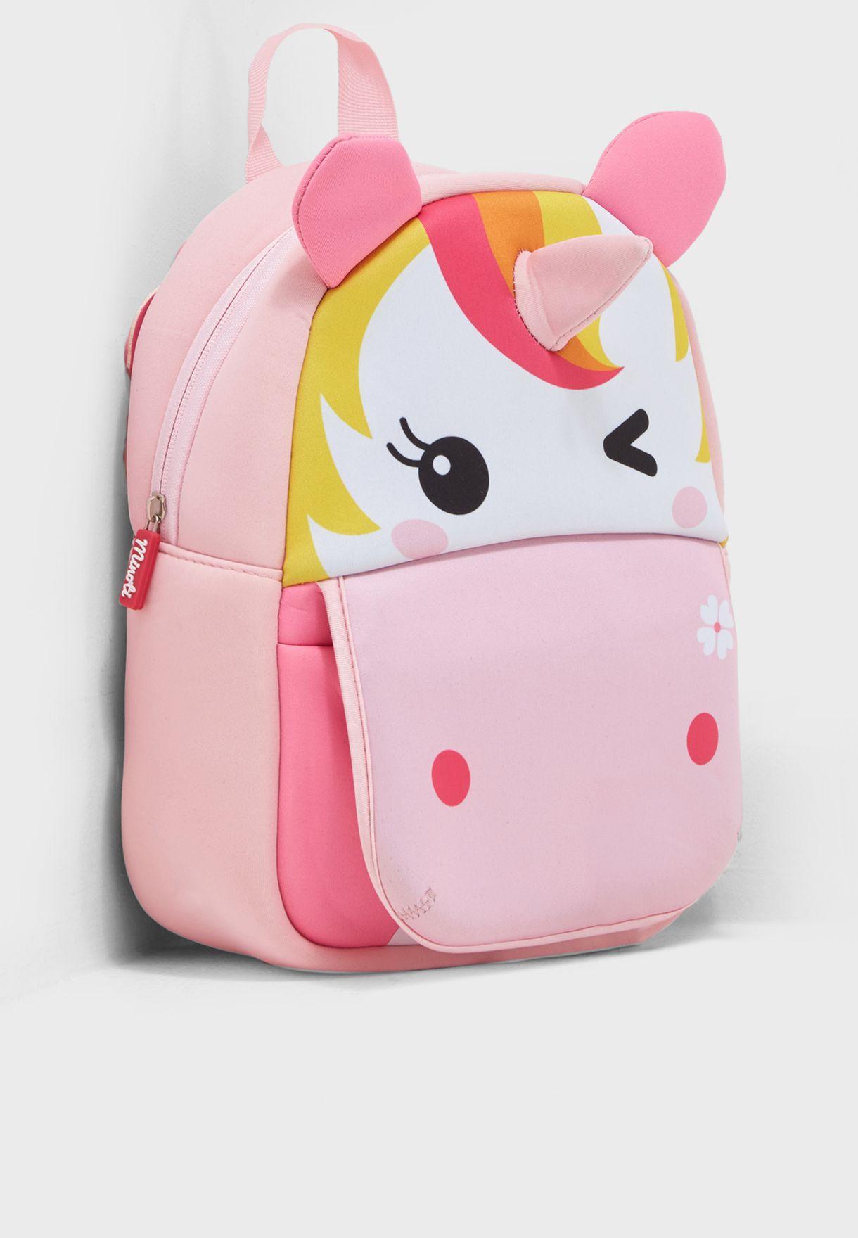 Shop Minoti Multicolor Kids Unicorn Rucksack Bag 8 For Kids In Saudi