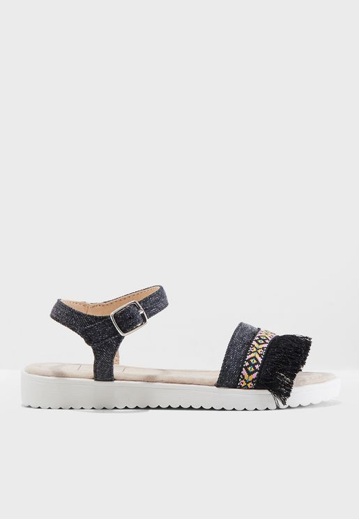 Youth Fringe Detail Sandal.