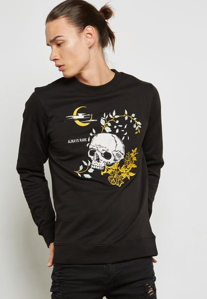 Skull Print Sweat Shirt