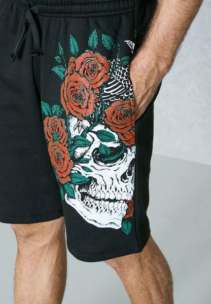 Skulls N Roses Shorts