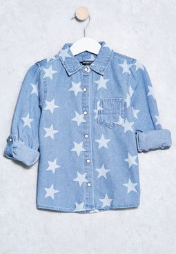 Kids Beka Star Print Shirt