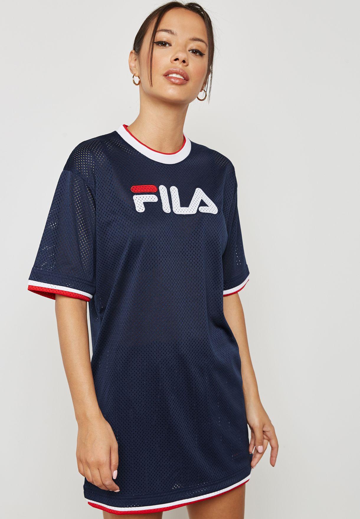 b58697e7f07f Shop Fila navy Drew Mesh Dress LW181K47 for Women in Saudi ...