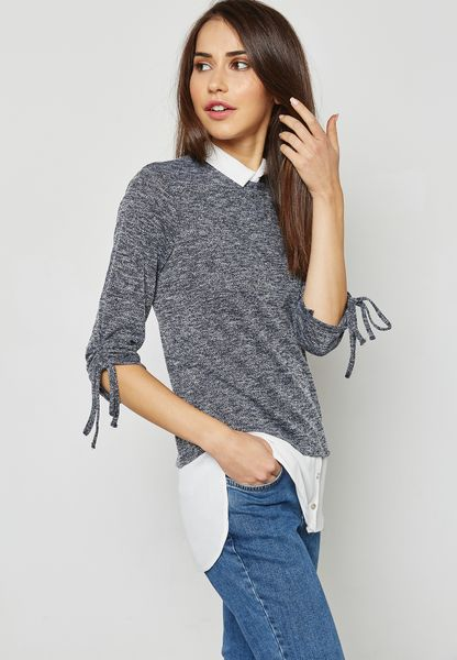 Tie Sleeve 2 In 1 Top