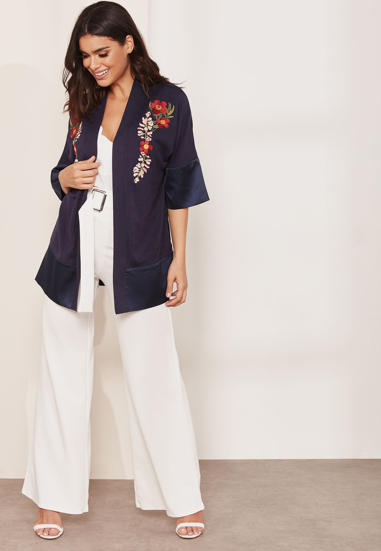 Contrast Detail Kimono