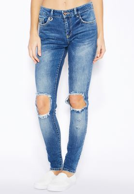 Only Ultimate Knee Patch Skinny Jeans