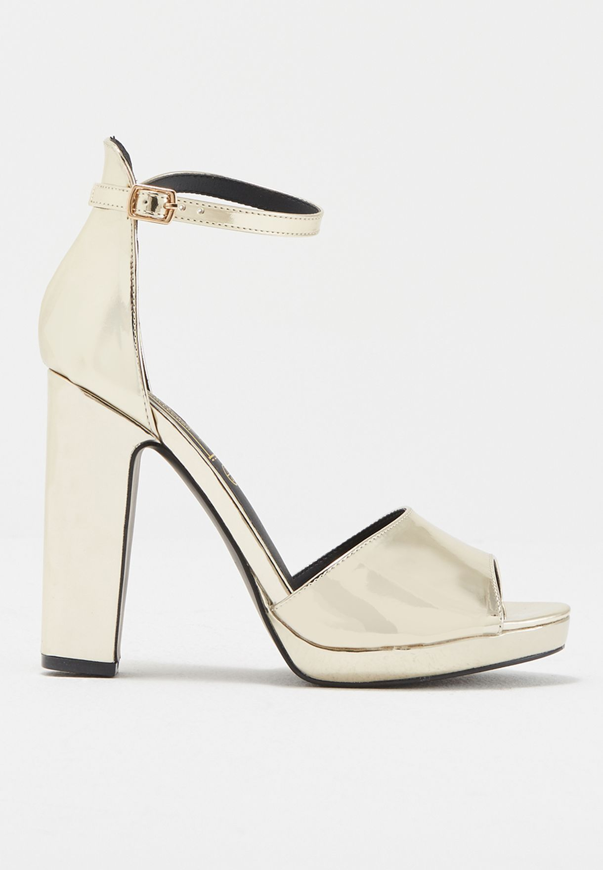 dfc18651e59 Shop Truffle silver Ankle Strap Block Heel LILA3 for Women in Qatar -  TR619SH47LPK