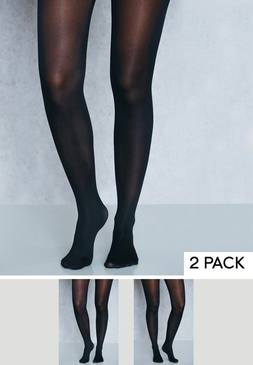 2 Pack High Waisted Shaper 50 denier Tights
