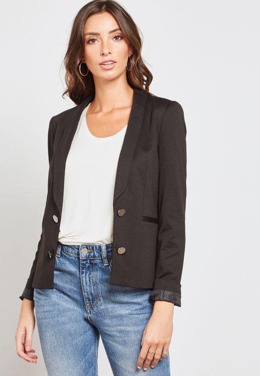 Rib Collar Jacket