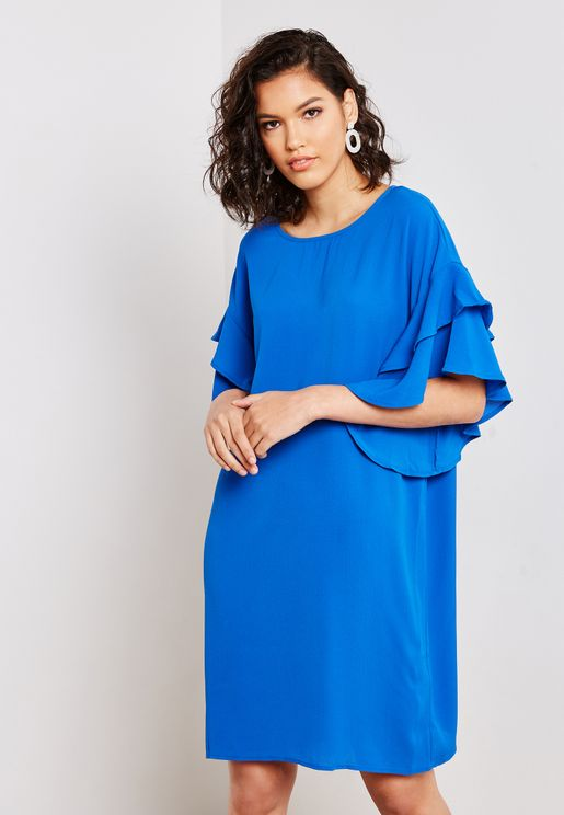 Frill Layered Sleeve Dress