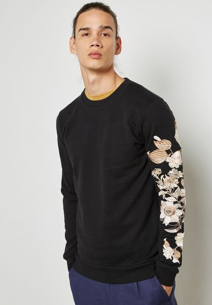 Sverre  Print On Sleeves Sweatshirt