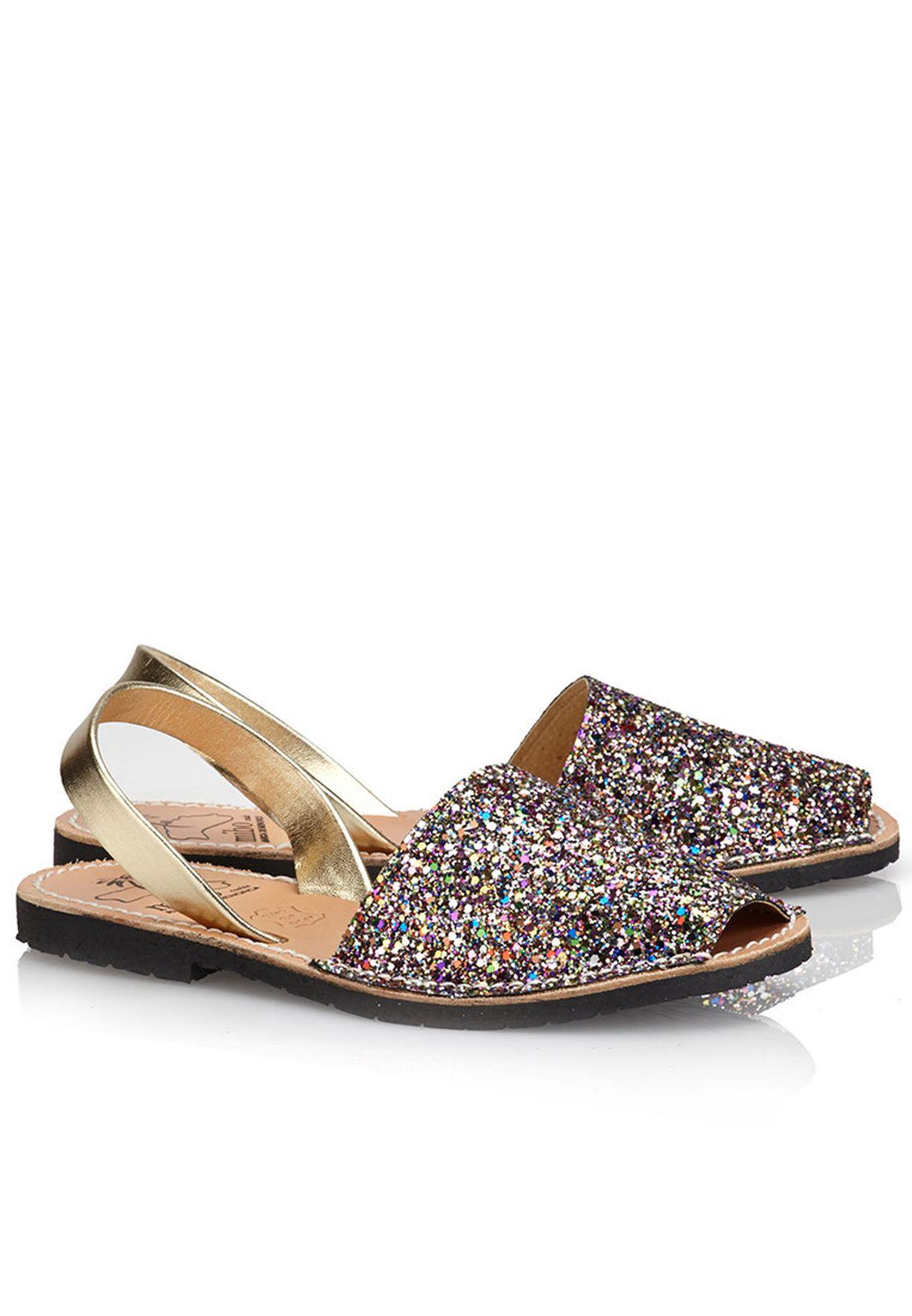 4b48abbcd Shop Mibo multicolor Glitter Sling Back Sandals for Women in UAE ...