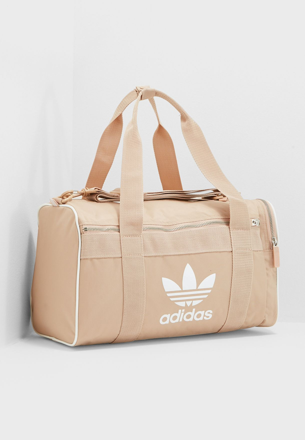 Shop adidas Originals beige Trefoil Duffel CW0616 for Women in UAE ... 5fa8d6eaad533
