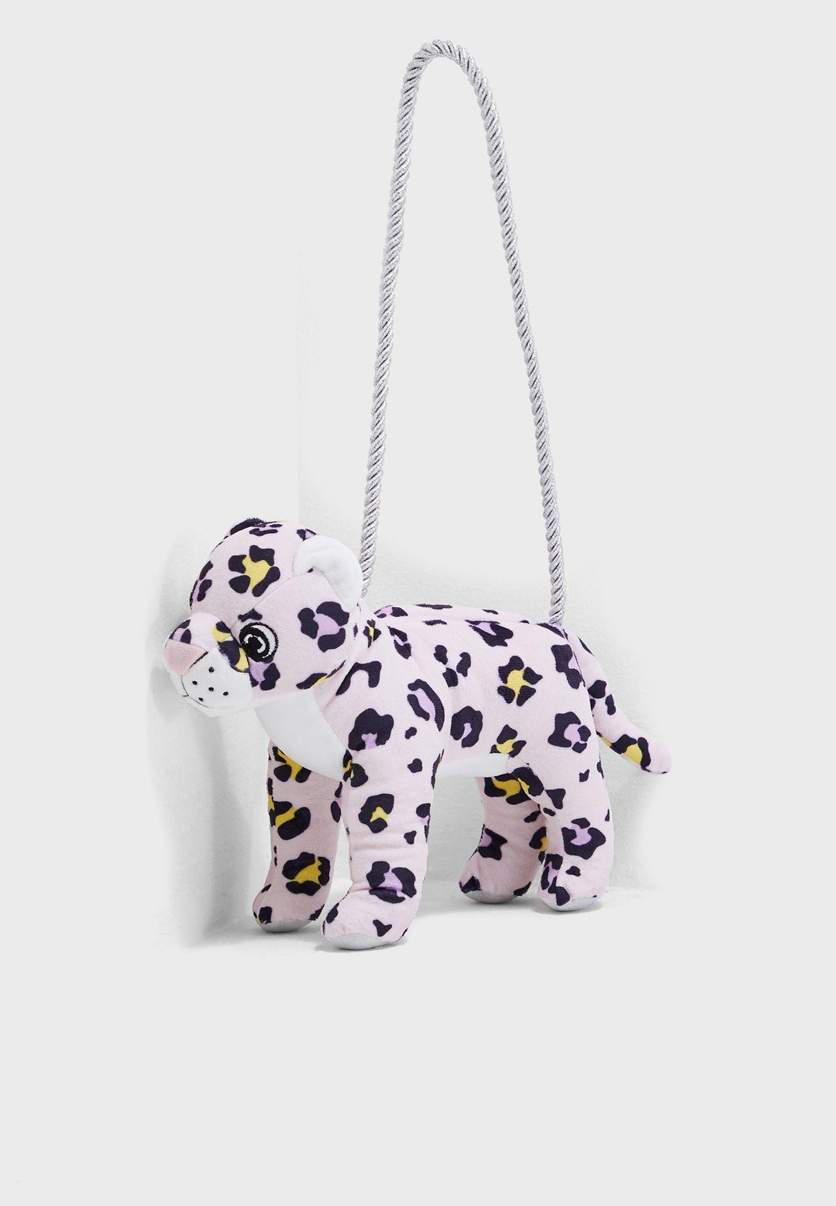 Kids Leopard Plush Bag