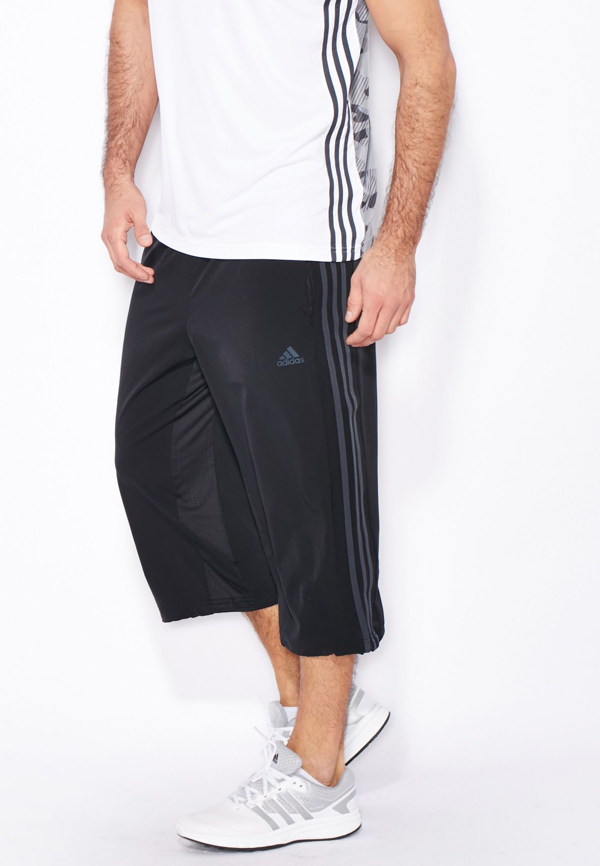7335d16deb1a Shop adidas black Cool 365 3 4 Pants AJ5521 for Men in UAE ...