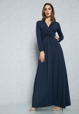 Wrap Front Twisted Dress