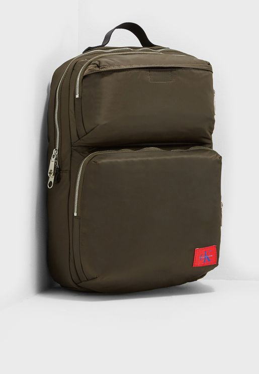 Pilot Twill Square Backpack