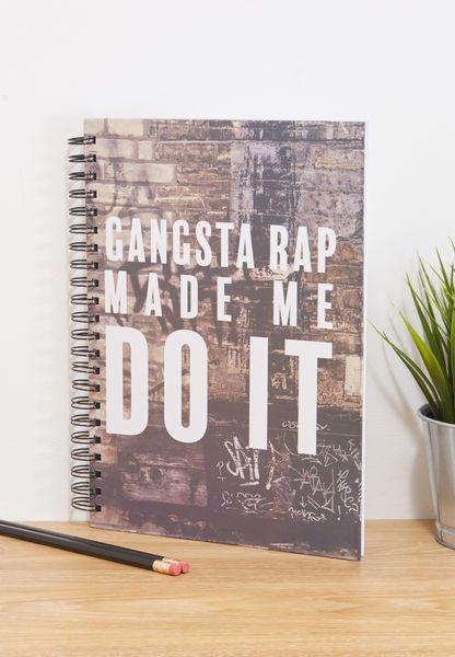 A4 Gangsta Rap Made Me Do It Notebook
