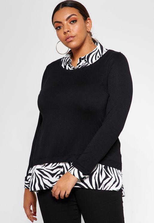 2 In 1 Zebra Print Shirt
