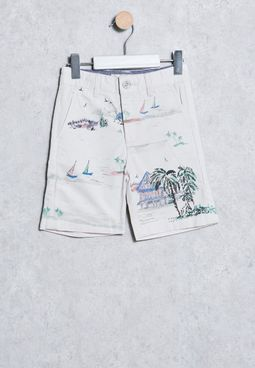 Kids Paisaje Shorts