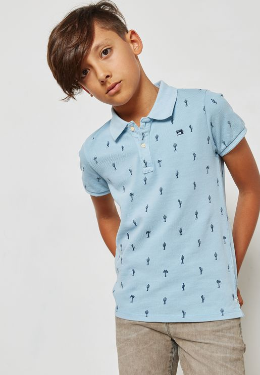 Teen Printed Polo
