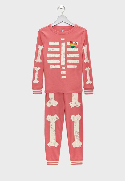Kids Skeleton Pyjama Set