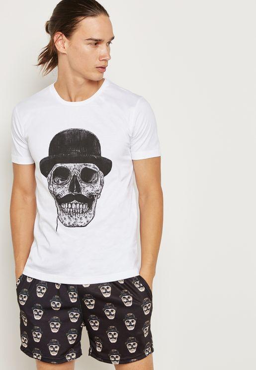 Halloween Skull Pajama Set