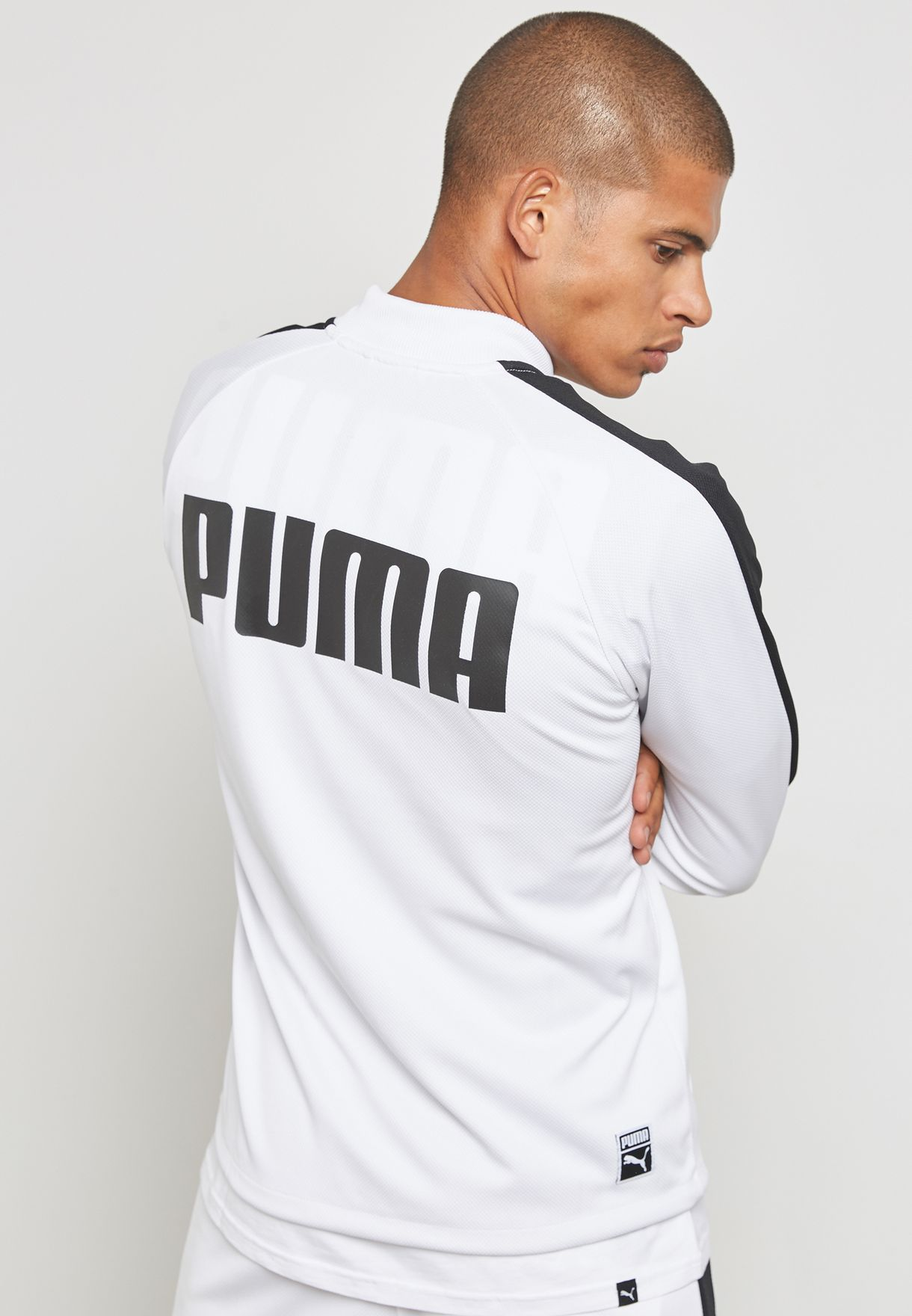 9891182c74f7 Shop PUMA white Archive T7 Summer Track Jacket 57569902 for Men in ...
