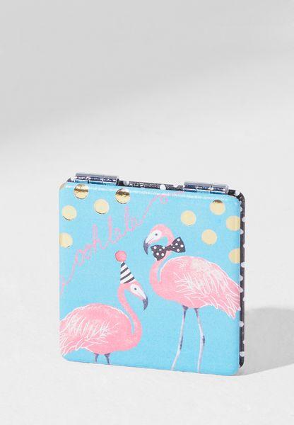 Candy Pop Flamingo Compact Mirror