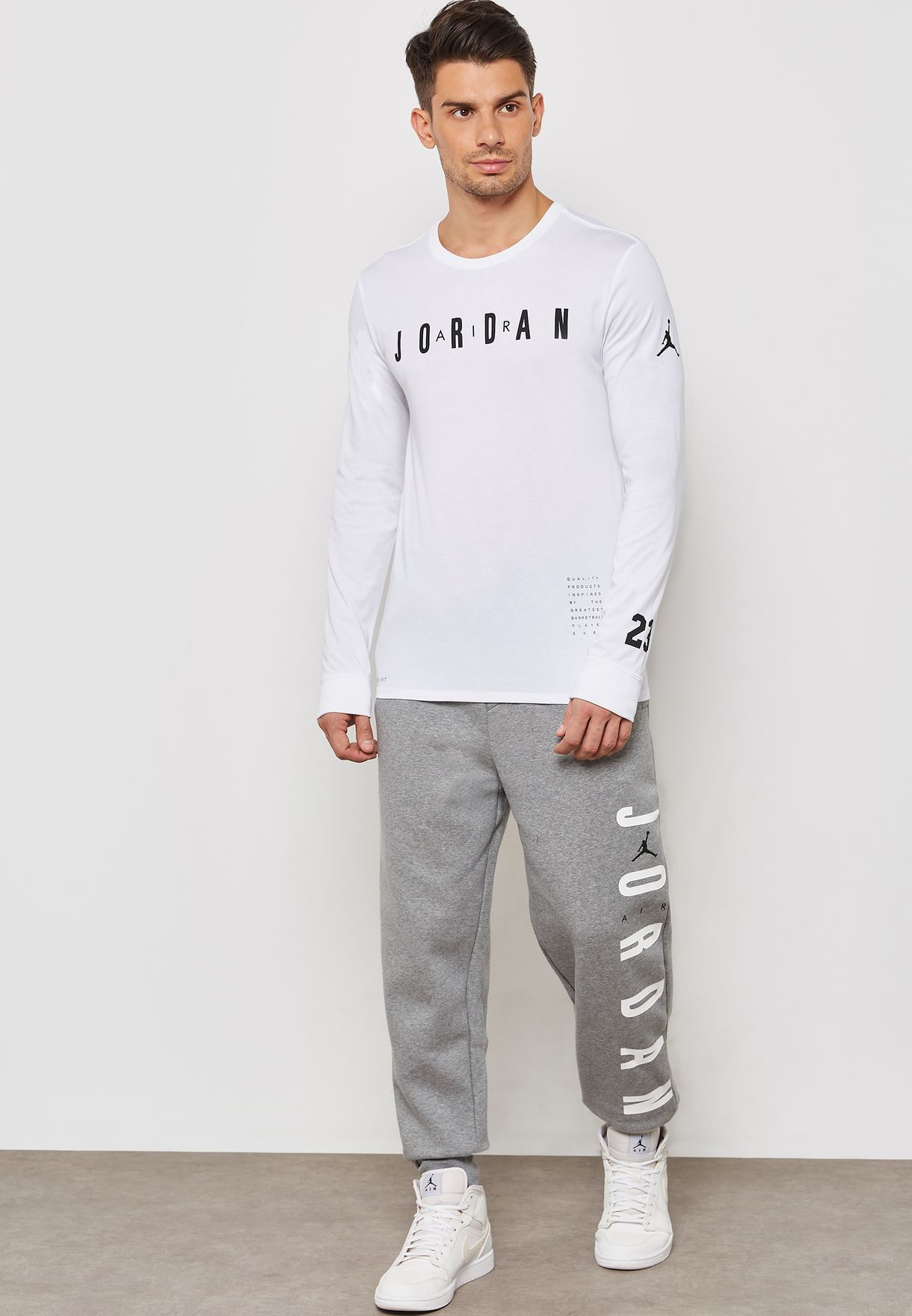 578ae5104aea Shop Nike grey Jordan Jumpman Air Fleece Sweatpants AT4913-091 for ...