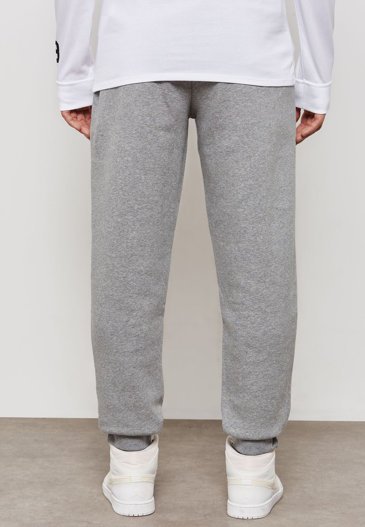 b462a338423b36 Shop Nike grey Jordan Jumpman Air Fleece Sweatpants AT4913-091 for ...