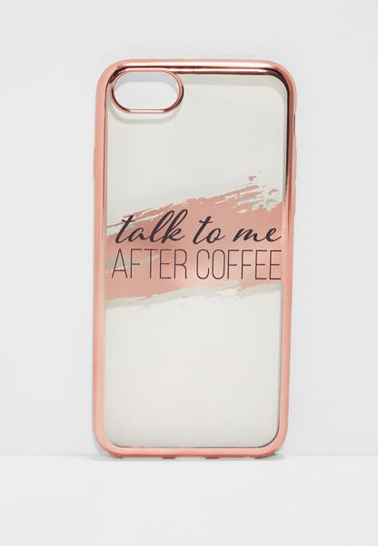 Talk To Me After Coffee iPhone 6/7/8 Hybrid Case