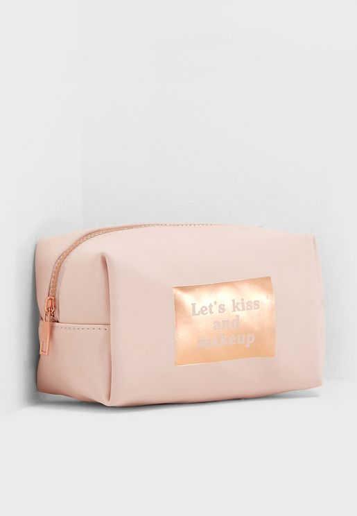 Blush Let's Kiss Made Up Cosmetic Bag