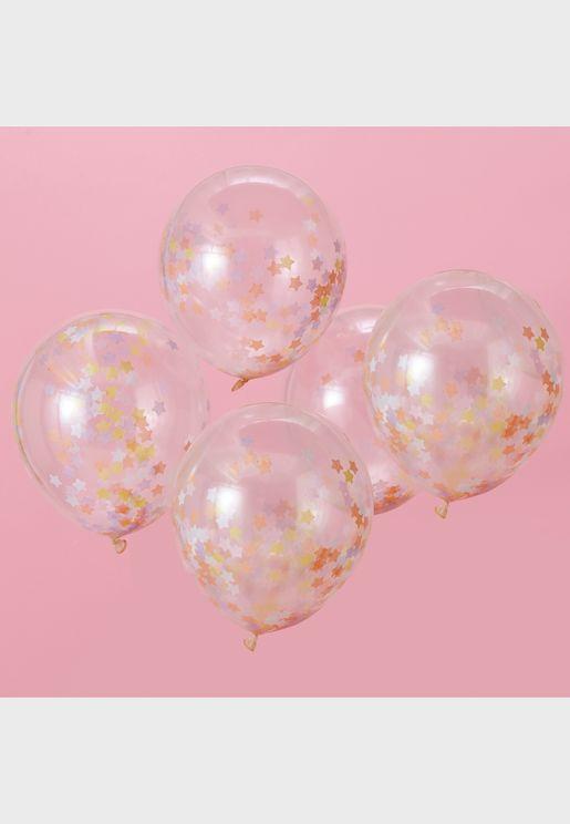 "5 x 12"" Unicorn Confetti Balloons"